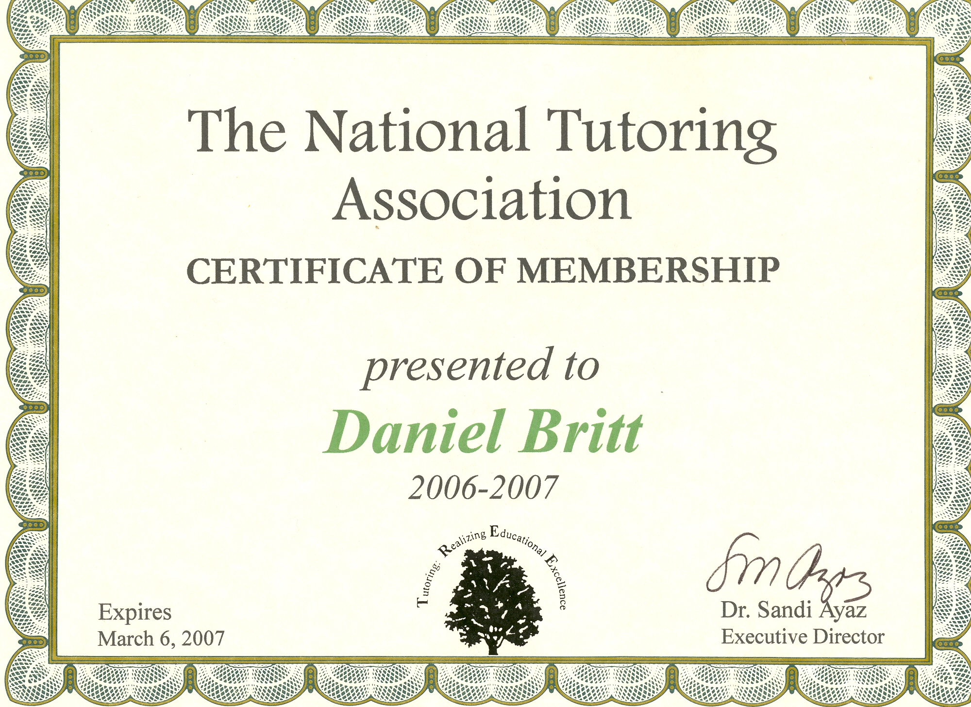 North jersey drum lessons with dan britt tutoring association a certified substitute teacher dan is authorized to award certificates of achievement authenticated by the vic firth company 1betcityfo Gallery